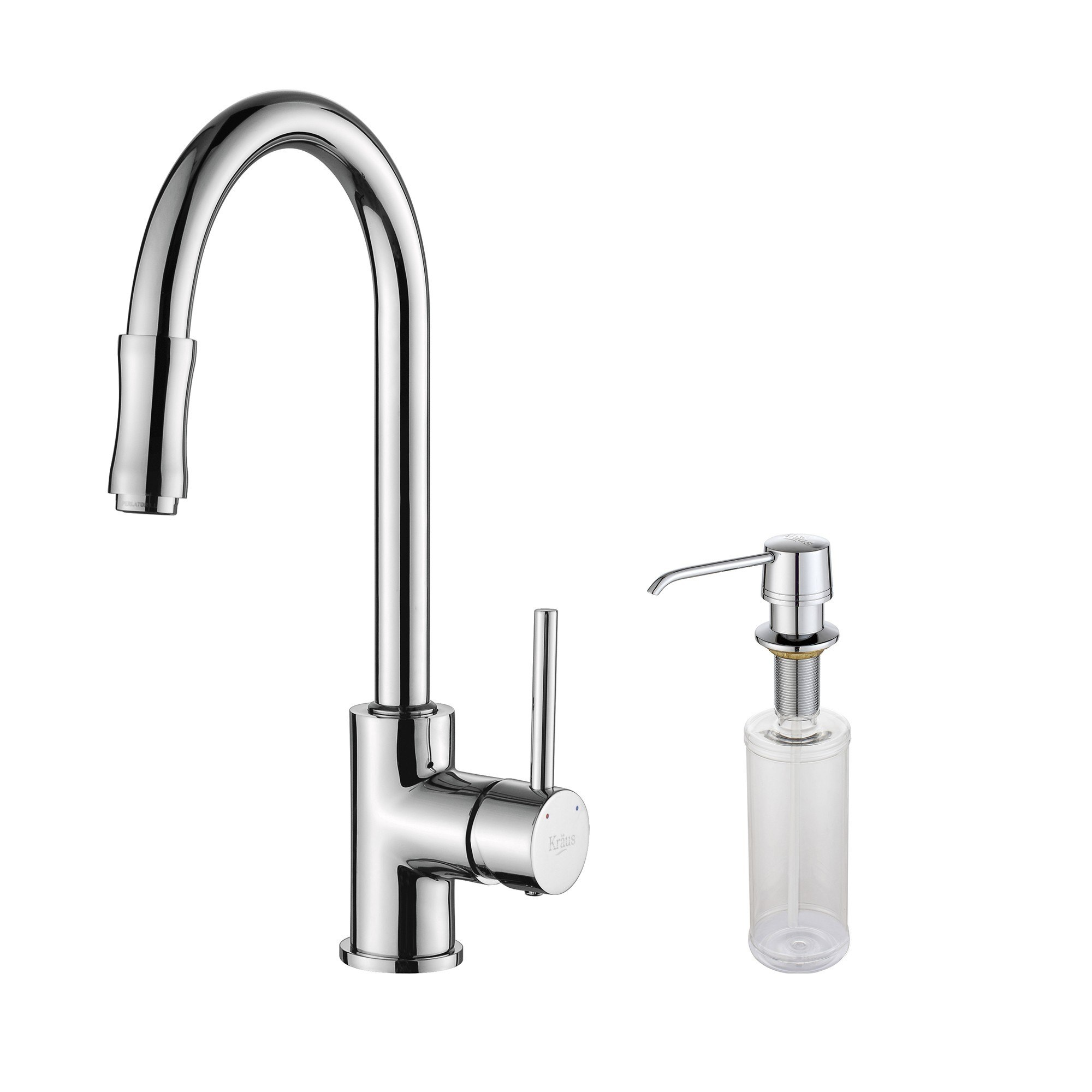 Where Are Kraus Faucets Made : Kraus KPF-1622-KSD-30 Single Lever Pull Out Kitchen Faucet & Soap ...