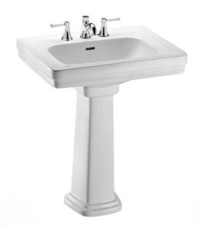 19 Inch Pedestal Sink : LPT532.8N Promenade 24 x 19-1/4 Inch Pedestal Lavatory with 8 Inch ...