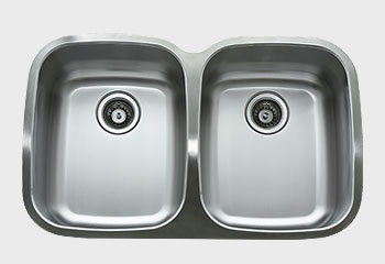 Ukinox D376.50.50.10 33 Inch Undermount Double Bowl Sink 10 Inch Bowl Depth