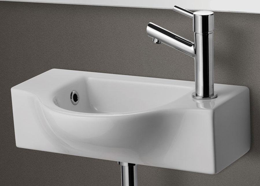 Alfi Ab105 Small Wall Mounted Ceramic Bathroom Sink Basin
