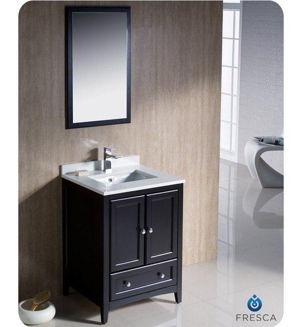 Fresca FVN2024ES Oxford 24 Inch Espresso Traditional Bathroom Vanity