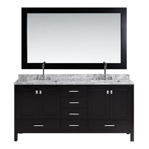 Design element dec082b london 72 inch double sink vanity for Design element marcos solid wood double sink bathroom vanity