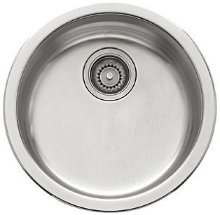 Franke RBX110 17 Inch 'Rotondo' Stainless Steel Single Bowl Sink Undermount/Topmount