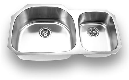 Yosemite Home Décor MAG3720 37 Inch Undermount Double Bowl Kitchen Sink
