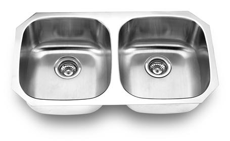 Yosemite Home Décor MAGNUM 502 32 Inch Undermount Double Bowl Kitchen Sink