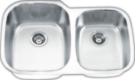 Yosemite Home Décor MAG503PS 32 Inch Undermount Double Bowl Kitchen Sink - Pearl Satin