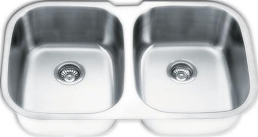 Yosemite Home Décor MAG504PS 34 Inch Undermount Double Bowl Kitchen Sink - Pearl Satin