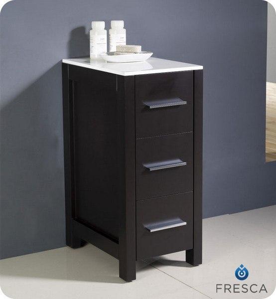 Fresca Fst6212es Torino 12 Inch Espresso Bathroom Linen Side Cabinet Fresca Bathroom Linen Side