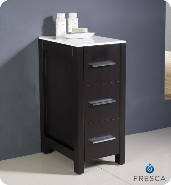 Espresso Bathroom Storage: Fresca FST6212ES Torino 12 Inch Espresso Bathroom Linen