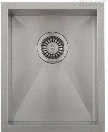 Ruvati RVH7110 18 Inch Undermount Stainless Steel Single Bowl Kitchen Sink