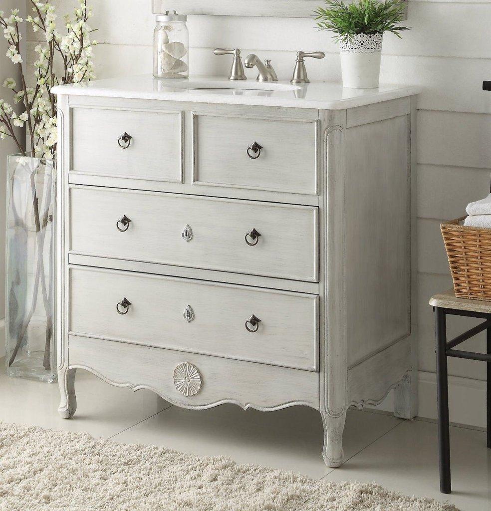 chans furniture hf081ck daleville 34 inch distressed grey