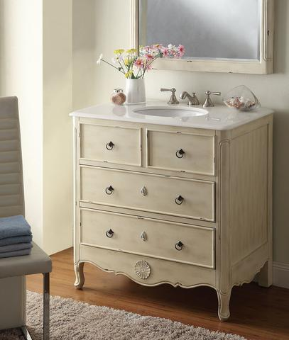 chans furniture hf081wp daleville 34 inch distressed cream
