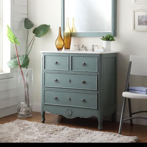Chans Furniture HF081Y Daleville 34 Inch Vintage Blue