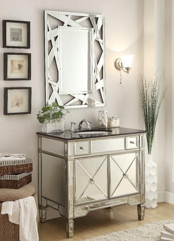 Chans Furniture YR 023G 2206 Ashlyn Set 36 Inch Silver