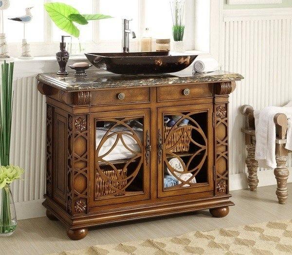 Chans Furniture HF1217GF Vigo 42 Inch Cherry Wood Bathroom