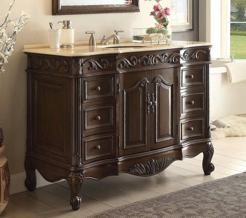 chans furniture sw 3882m tk 42 beckham 42 inch dark brown bathroom sink vanity sw 3882m tk 42. Black Bedroom Furniture Sets. Home Design Ideas