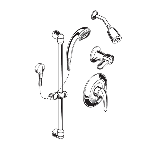 American Standard 1662 213 002 Flowise 1 5 Gpm Shower
