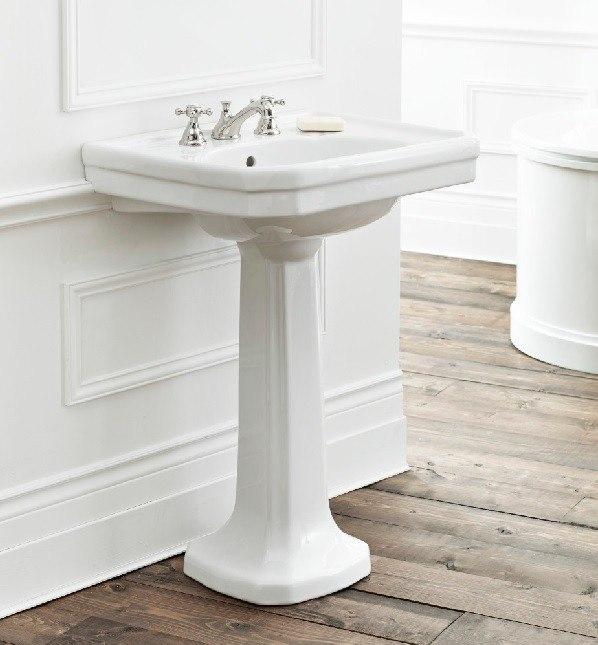 Cheviot 511/20-WH 20 Inch Mayfair Pedestal Sink in White 511/20-WH-1 ...