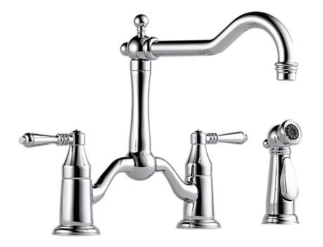 Brizo 62536LF Tresa Two Handle Bridge Kitchen Faucet with Spray