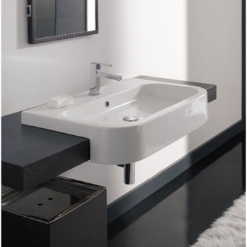 Scarabeo 8047/D-80 Next 32.1 Inches Bathroom Sink