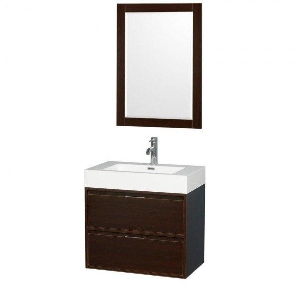 Wyndham collection wcr460030sesarintm24 daniella 30 inch - 30 inch single sink bathroom vanity ...