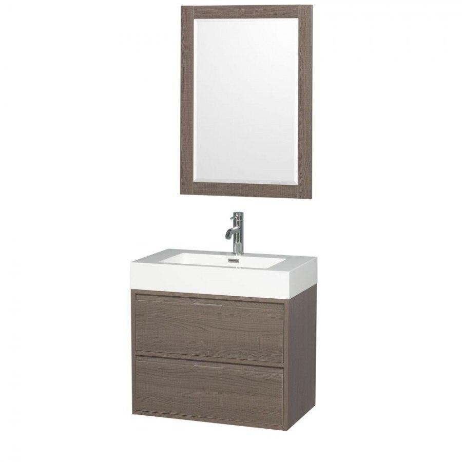 Wyndham collection wcr460030sgoarintm24 daniella 30 inch for Gray 30 inch bathroom vanity