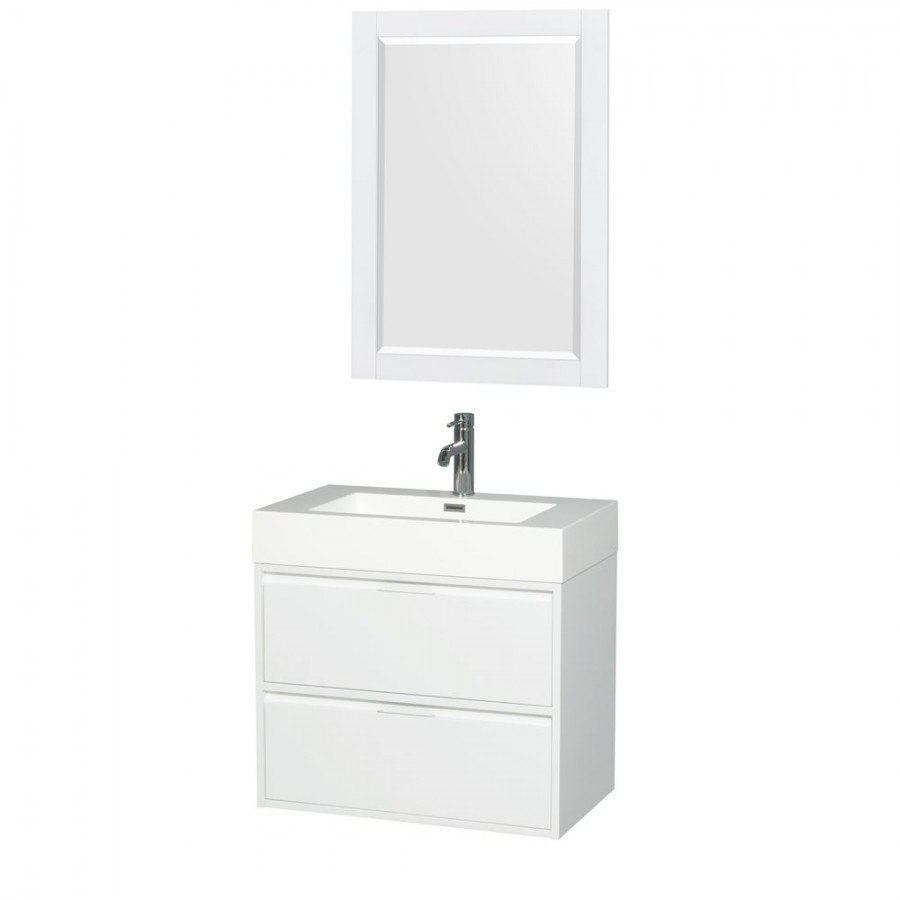 Wyndham Bathroom Vanities: Wyndham Collection WCR460030SGWARINTM24 Daniella 30 Inch