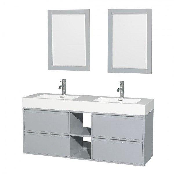 Wyndham collection wcr460060ddgarintm24 daniella 60 inch - 60 inch bathroom vanities double sink ...