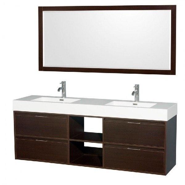 Wyndham Collection Wcr460072desarintm70 Daniella 72 Inch Double Bathroom Vanity In Espresso