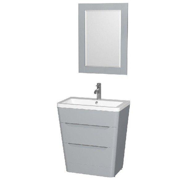 Wyndham Collection WCS777830SGYARINTM24 Caprice 30 Inch Pedestal Bathroom Van
