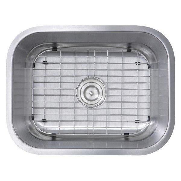 Nantucket Sinks NS09i-16 23 Inch Small Rectangle Single Bowl Undermount Stainless Steel Kitchen Sink - 16 Gauge