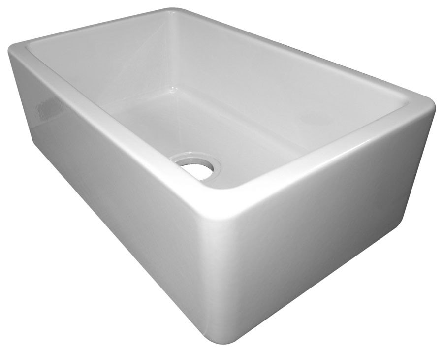 Fire Clay Sinks : ... Wall Fireclay Single Bowl Farm Sink AB3018SB-W AB3018SB-B AB3018SBW
