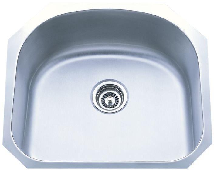 Dowell USA 6001 2320T Undermount Series 23 Inch Undermount Kitchen Sink - 16 Gauge