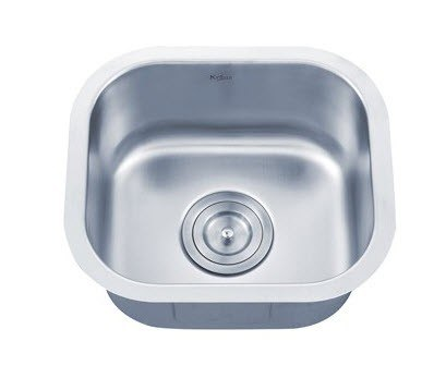 Kraus kbu17 15 inch undermount single bowl 18 gauge - 18 inch kitchen sink ...