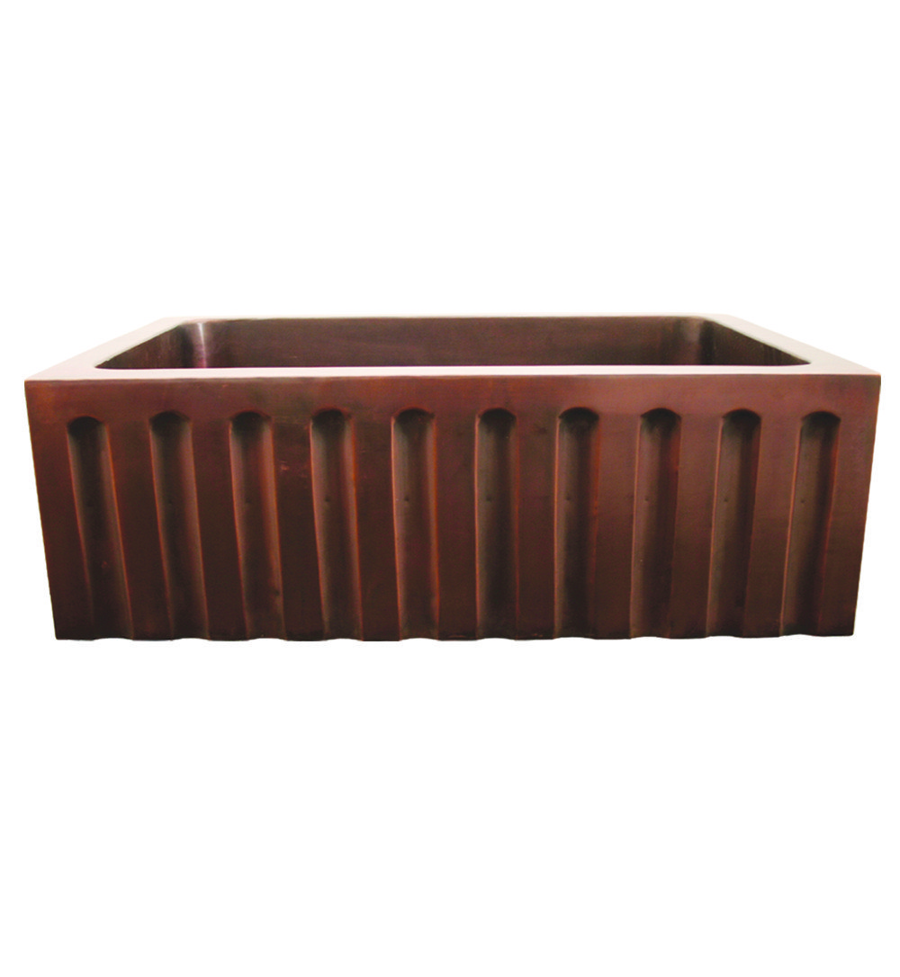 Whitehaus WH3020COFCFL Copperhaus 30 Inch Rectangular Undermount Sink ...