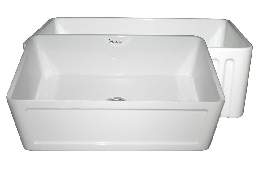 30 Inch Apron Sink : ... 30 Inch Fireclay Sink w/ Concave Front Apron / Fluted Front Apron