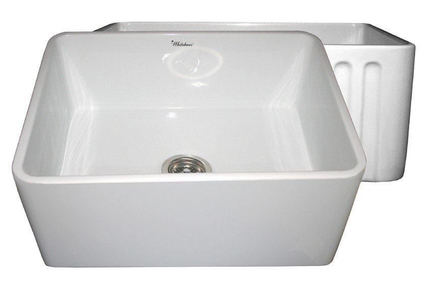 24 Apron Sink : ... 24 Inch Fireclay Sink w/ Smooth Front Apron / Fluted Front Apron