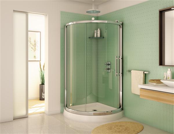 Fleurco FSR36 Sorrento 36 X 36 Inch Arc Corner Shower Enclosure FSR36 11 40 F