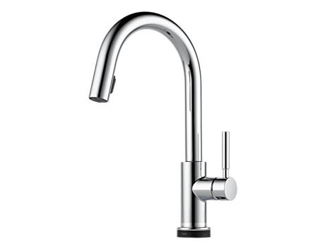 Brizo 64020LF Solna Single Handle Single Hole Pull-Down Kitchen Faucet with SmartTouch� Technology