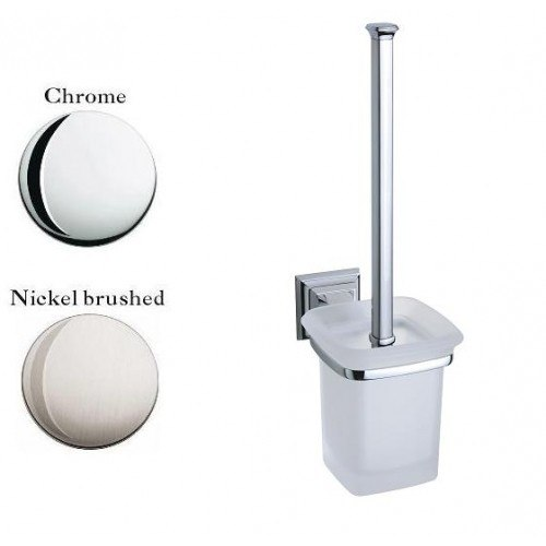 Lada KK68039 Wall Mount Glass Toilet Brush Holder
