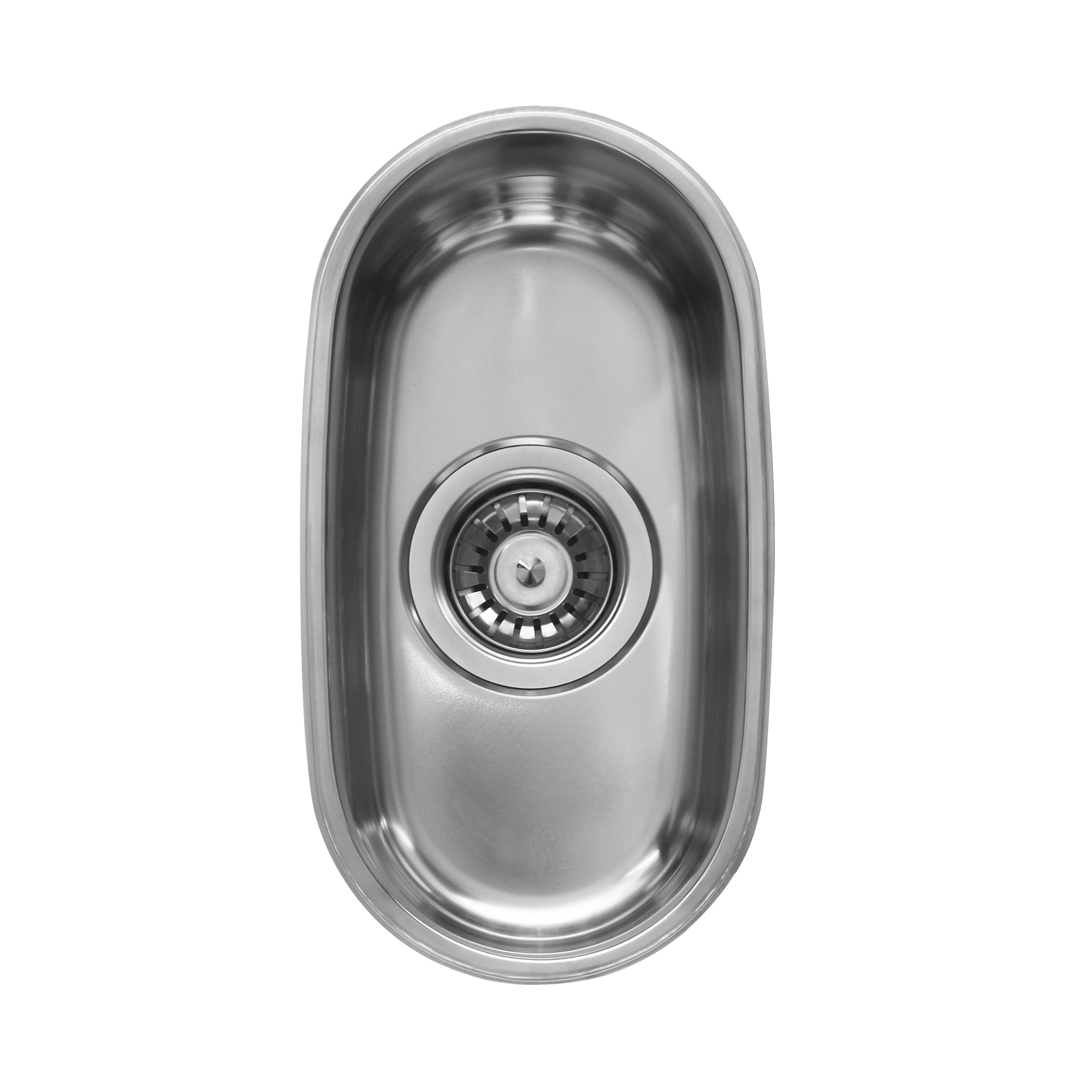 Ukinox D181 8 Inch Undermount Single Bowl Sink