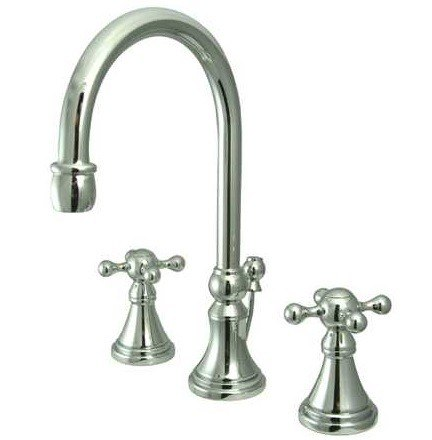 Kingston Brass KS298KX Two Handle 8 Inch to 16 Inch Widespread bathroom Faucet w/ Brass Pop-Up