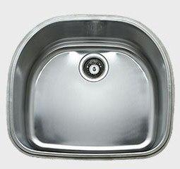 Ukinox D537.8 22 Inch Undermount Single Bowl Sink: 8 Inch Bowl Depth
