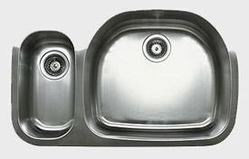 Ukinox D537.70.30.10R 32 Inch Undermount Double Bowl Sink 10 Inch Bowl Depth: Right Hand Side