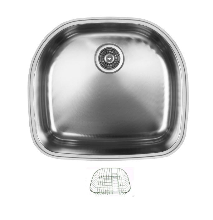 Ukinox D537.10.RB Undermount Double Bowl Stainless Steel Kitchen Sink With Rinsing Basket