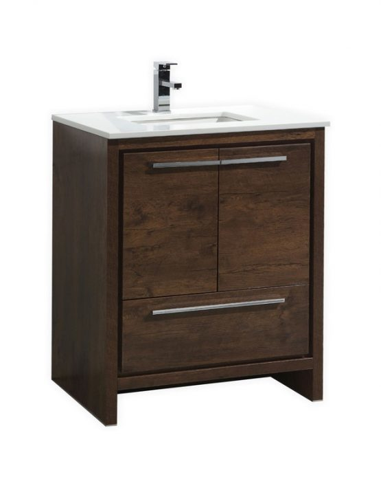 Moreno Bath Md630rw Mod 30 Inch Rose Wood Free Standing Modern Bathroom Vanity With 2 Doors And