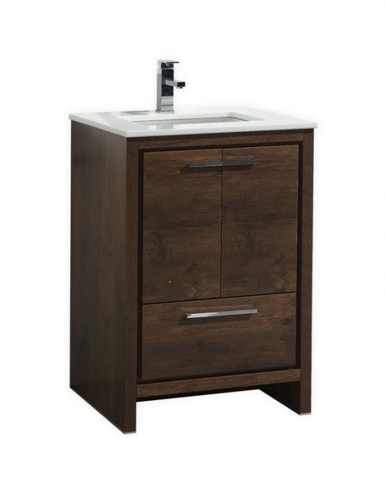 Moreno Bath Md624rw Mod 24 Inch Rose Wood Free Standing Modern Bathroom Vanity With 2 Doors And