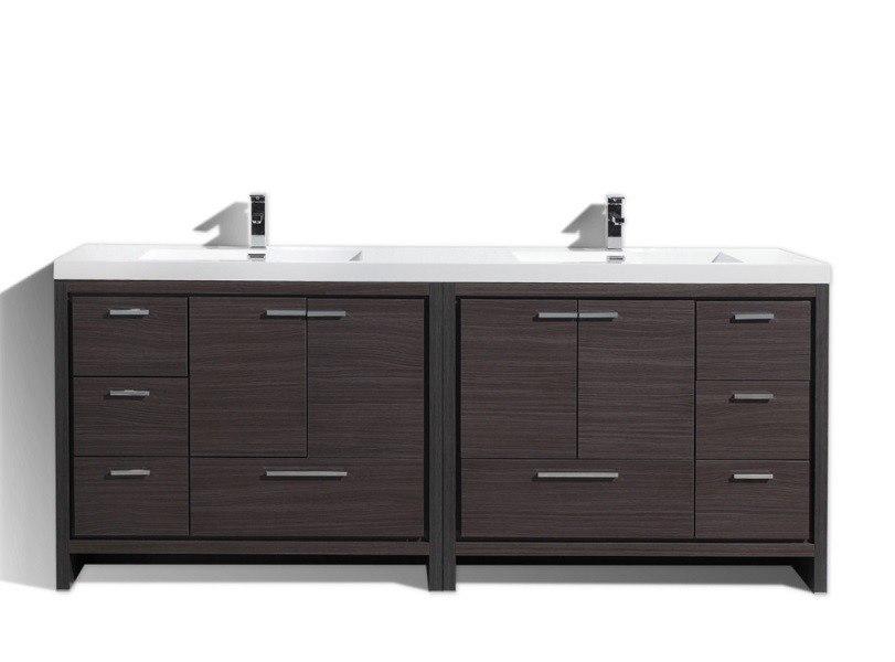 Moreno Bath Md684wb Mod 84 Inch Dark Gray Oak Modern Bathroom Vanity With Acrylic Sink