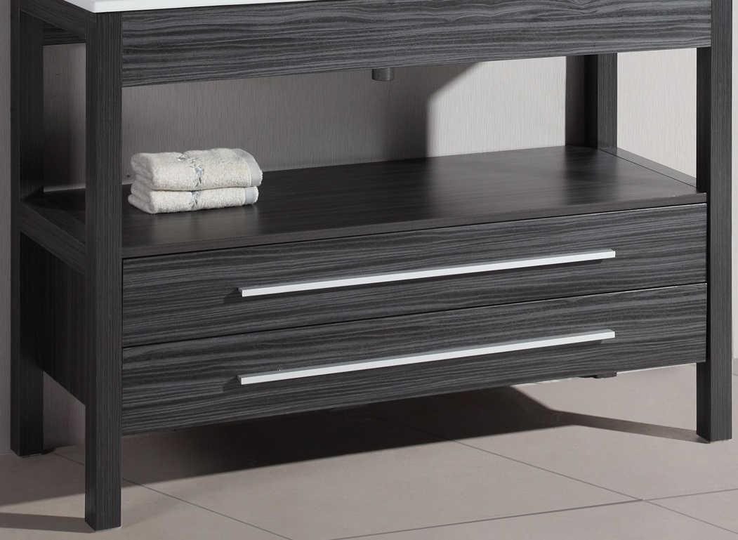 Bosconi A-5243GMC 48 Inch Contemporary Single Base Cabinet in Charcoal Gray