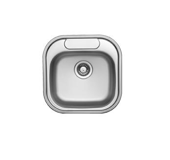Ukinox CO480.480 Single Basin 18 Inch Stainless Steel Drop-in Kitchen